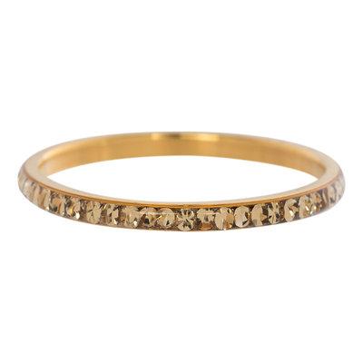 iXXXi Ring 2mm Goud Small Zirkonia Light Topaz