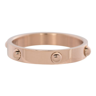 iXXXi Ring 4mm Edelstaal Dots Rose Goud