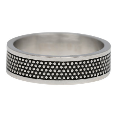 iXXXi Ring 6mm Raw Dots Edelstaal Zilver