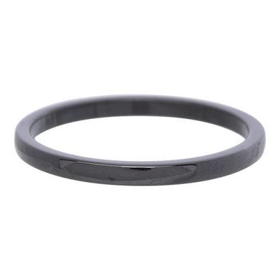 iXXXi Ring 2mm Keramisch Zwart