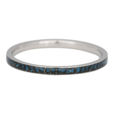 iXXXi Ring 2mm Stainless Steel  Small Zilver Zirkonia Montana