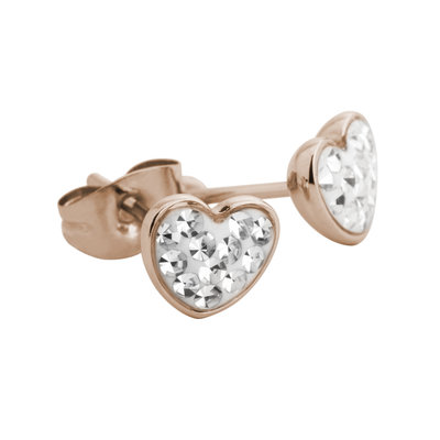 Melano Friends Earstuds Valentine Multi Zirkonia Stainless Steel Rose Gold-coloured