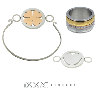 iXXXi Ring en Armband Combinatie  inclusief 2 iXXXi Bangle Meddy's naar keuze