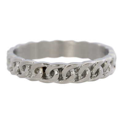 iXXXi Ring 4mm Edelstaal Curb Chain Zilver