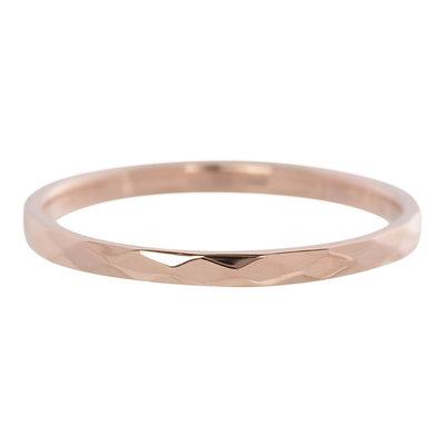 iXXXi Ring 2mm Edelstaal Rose Goud Small Hamerslag