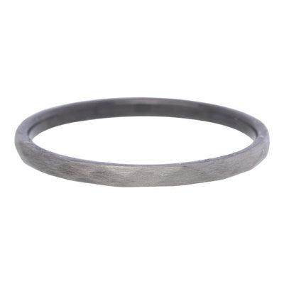 iXXXi Ring 2mm Edelstaal Hamerslag Antique