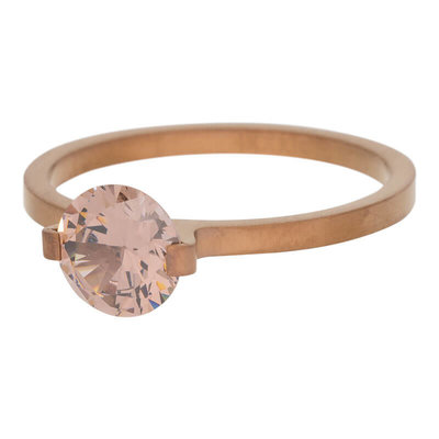 iXXXi Ring 2mm Edelstaal Bruin Glamour Stone Smoked Topaz