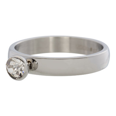 iXXXi Ring 4mm Edelstaal Diamant Zirkonia Crystal