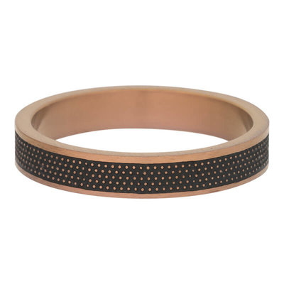 iXXXi Ring 4mm Raw Dots Edelstaal Bruin