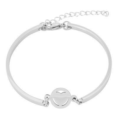 iXXXi Edelstaal Spang armband Hart Zilver 17cm - 20cm