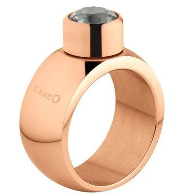 MelanO Sturdy Ring Stefanie Edelstaal Rose Goud 12mm