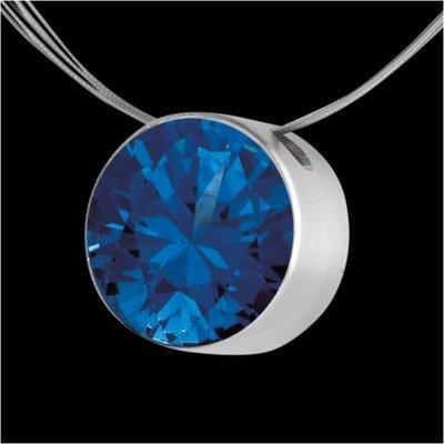 Melano Stainless Steel Zirkonia Hanger Blue