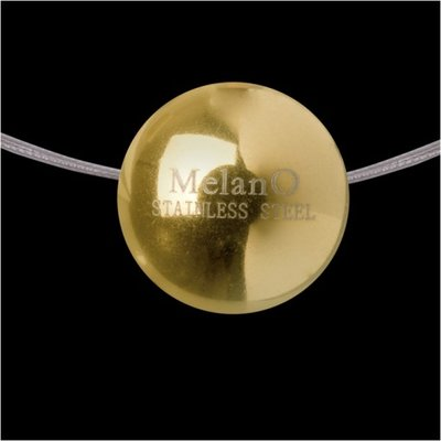 MelanO Stainless Steel Ball Hanger Glans Goldplated