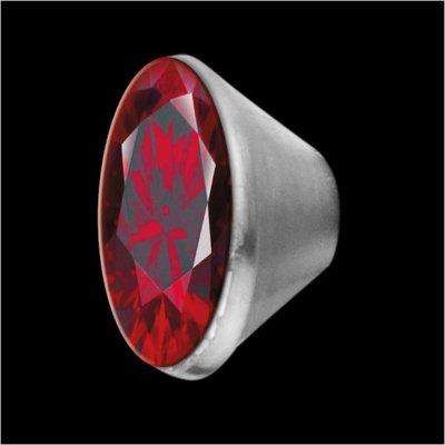 MelanO Stainless Steel Setting Conisch Dark Red