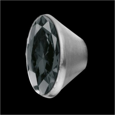 MelanO Stainless Steel Setting Conisch Transparant Black