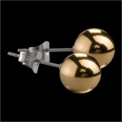 MelanO Stainless Steel Oorknoppen Ball Gold