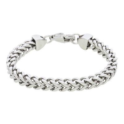 iXXXi Armband Edelstaal Visgraad Zilver