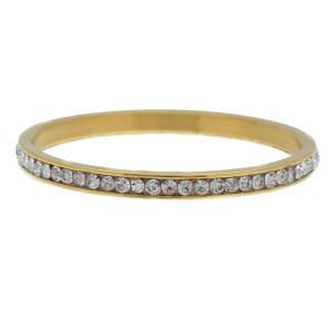 iXXXi Ring 2mm Goud Small Zirkonia Crystal