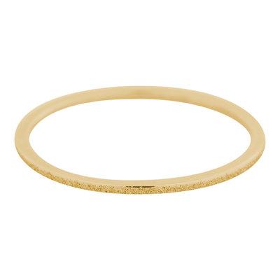 iXXXi Ring 1mm Edelstaal Goudkleurig Sandblasted