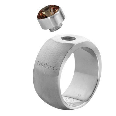 MelanO Sturdy Ring Stefanie Edelstaal Mat 10mm
