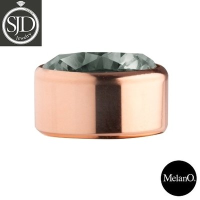 MelanO Stainless Steel Setting Rose Gold Zirkonia Antracite