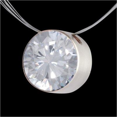 Melano Stainless Steel Zirkonia Hanger Crystal