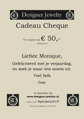 SJD Jewelry Cadeau Bon € 50