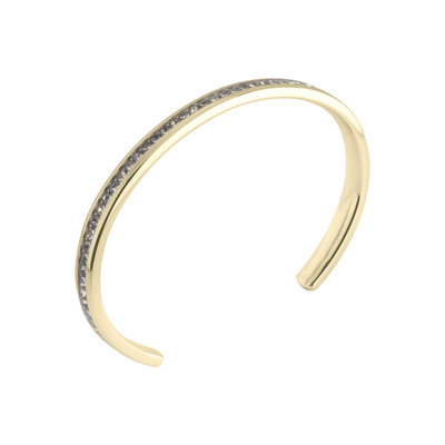 MelanO Friends Side Bangle Edelstaal Zirkonia Crystal Goud