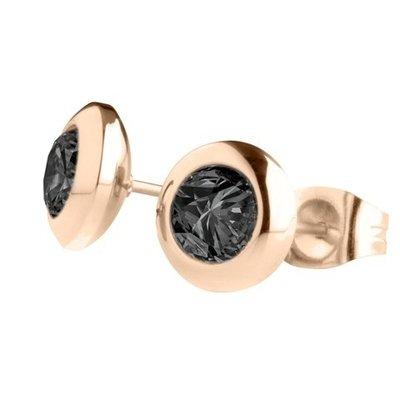 MelanO Magnetic Oorbellen Black Rose Goud