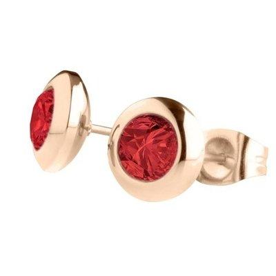 MelanO Magnetic Oorbellen China Red Rose Goud