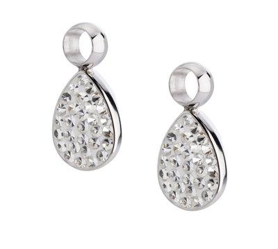 Melano Emma Oorbelhangers Edelstaal Zilverkleurig Zirkonia Crystal