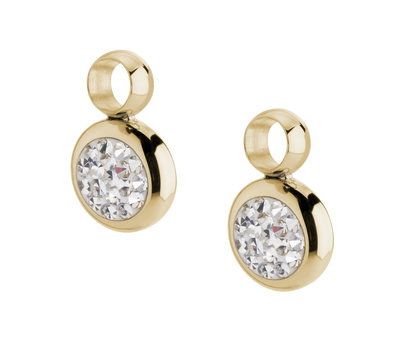 Melano Gina Oorbelhangers Edelstaal Goudkleurig Zirkonia Crystal
