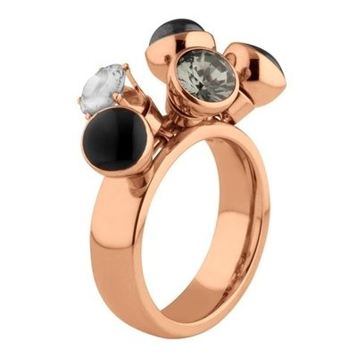 MelanO Twisted Ring Tess Edelstaal Rose Goud