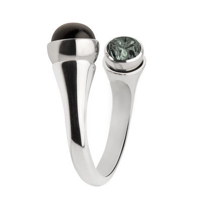 MelanO Twisted Tulip Ring Edelstaal