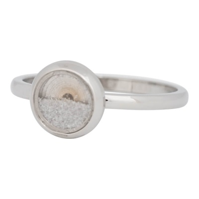 iXXXi Ring 2mm Edelstaal Zilver White Sand