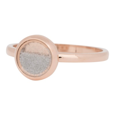 iXXXi Ring 2mm Edelstaal Rose Goud White Sand