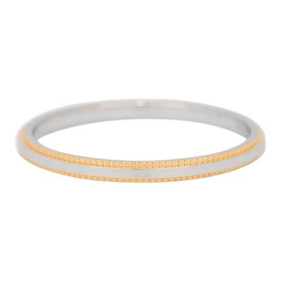 iXXXi Ring 2mm Edelstaal Goudkleurig Double Gear