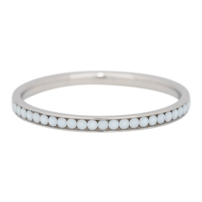 iXXXi Ring 2mm Edelstaal Zilverkleurig White Stone