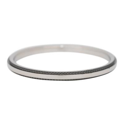 iXXXi Ring 2mm Edelstaal Zwart Double Gear