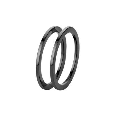 Melano Friends Ringen Sade Stainless Steel Black 2 rings