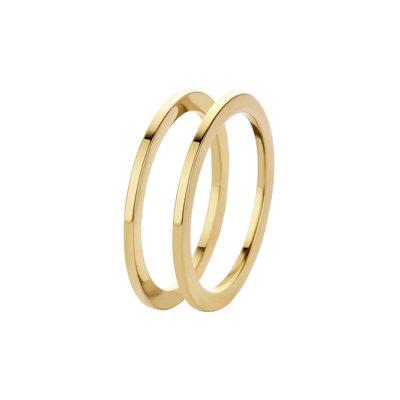 Melano Friends Ringen Sade Stainless Steel Gold-coloured 2 rings
