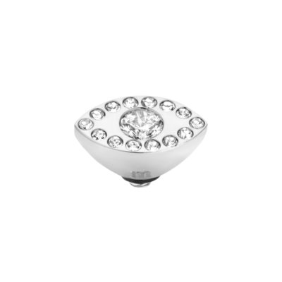Melano Twisted Eye Meddy Edelstaal Zilver Zirkonia Crystal