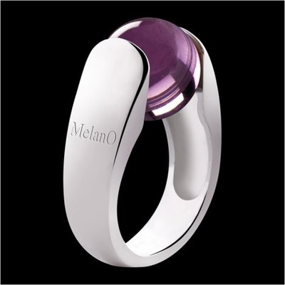MelanO Cat Ring 12mm Zilver