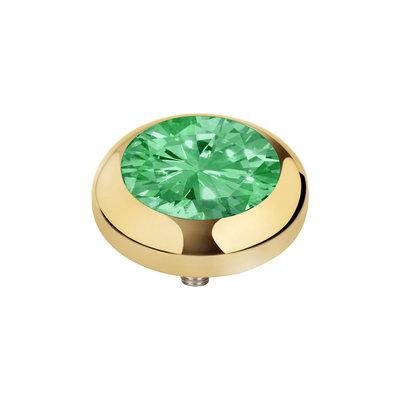 MelanO Vivid Zirkonia Meddy Edelstaal Goud Morocco Mint