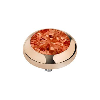 MelanO Vivid Zirkonia Meddy Edelstaal Rose Goud Coral Red