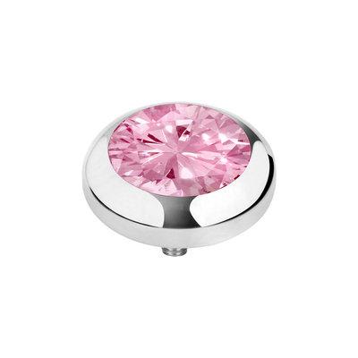 MelanO Vivid Zirkonia Meddy Edelstaal Zilver Blossom Pink