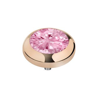 MelanO Vivid Zirkonia Meddy Edelstaal Rose Goud Blossom Pink