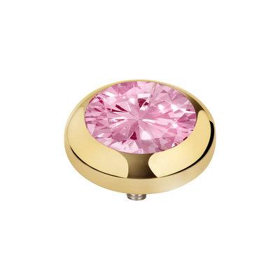MelanO Vivid Zirkonia Meddy Edelstaal Goud Blossom Pink