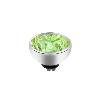 MelanO Twisted Meddy Zirkonia Edelstaal Zilver  Aqua Green
