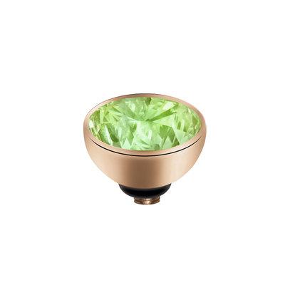 MelanO Twisted Meddy Zirkonia Edelstaal Rose Goud Aqua Green